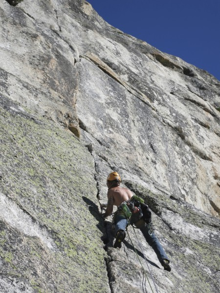 "me having a blast at on sighting ""Direct North West Face"" on Lembert D..."