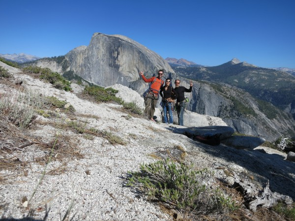 happy climbers topped out on north dome