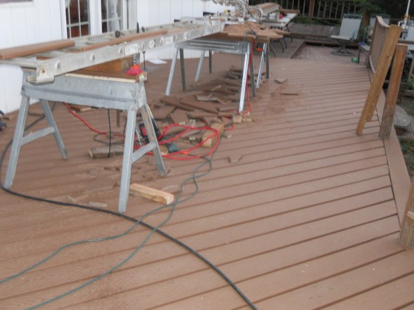 Defective Trex Deck Rebuild