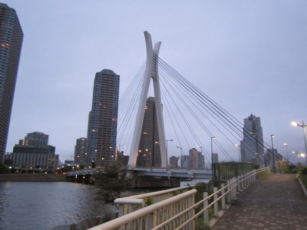one of the many bridges I cross on my 5k runs in Tokyo