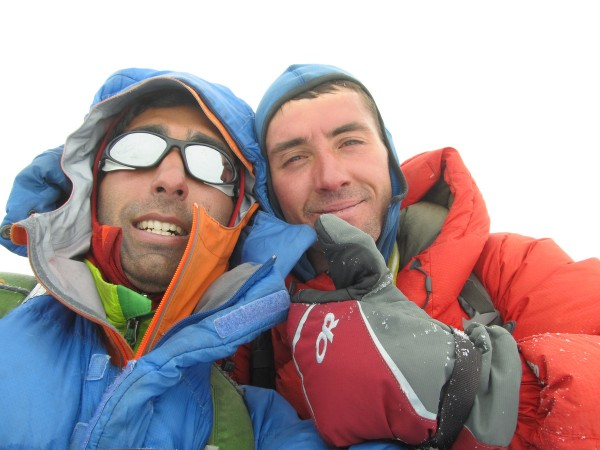 Some wankers on the summit of Chacraraju Este.