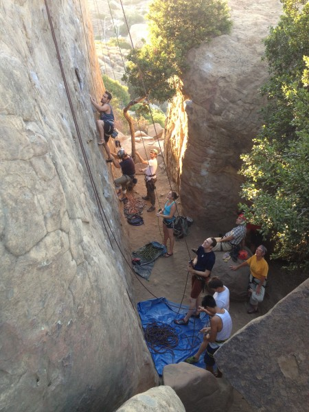 Mozart's on a groovy summer Wednesday night. 4 TRs, 12 climbers and a ...