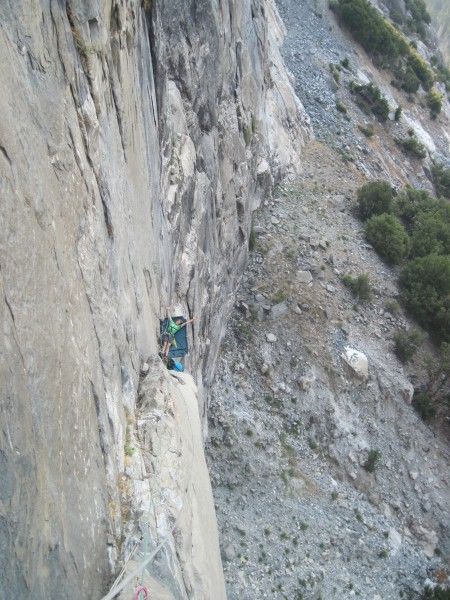 me haven a rather relax belay sesh on dead bird ledge!