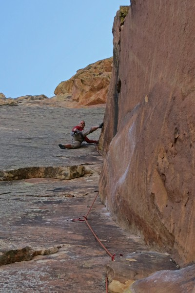 The upper section of pitch 10.  Very cool climbing!