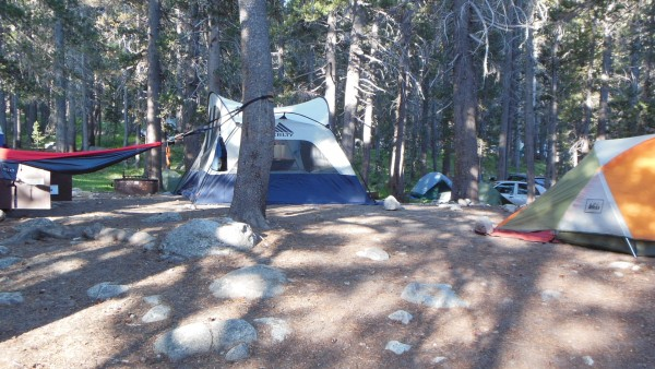 ahhh camp all set up in Tuolumne
