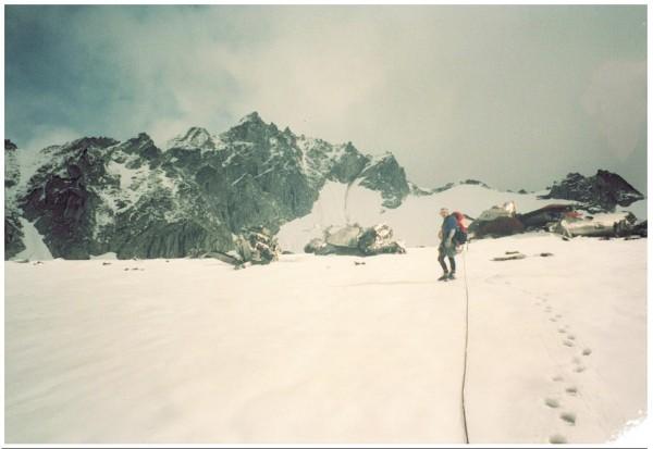 Bomber Glacier in AK's Talkeetna mtns.