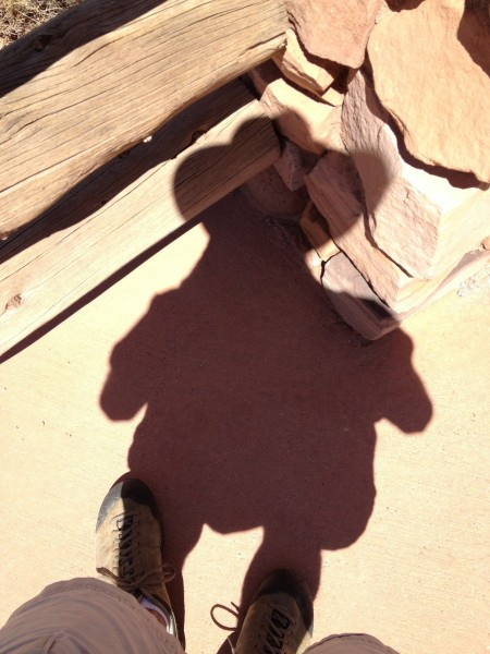 My shadow-self in Canyonlands.