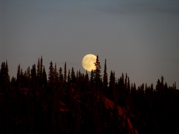 Yukon supermoon, summer solstice