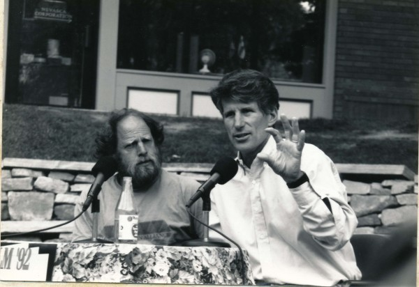 Rick Silverman and Galen Rowell discussing size. This was 1991 at Mtn ...