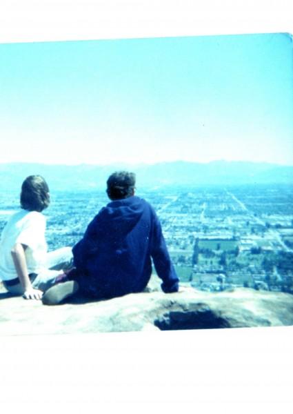 Top of Stoney, looking down Topanga
