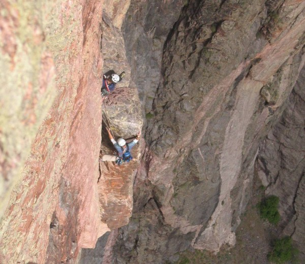 10th pitch Atlantis 5.11 North Rim of Black Canyon (Courtesy Jim H...