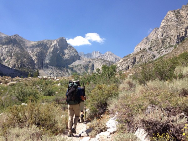 Starting up the South Fork of Big Pine Creek.