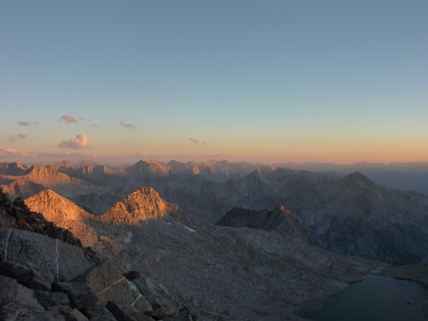 Sunset from Scimitar Pass. At 13,000+ feet... felt more like a summit.