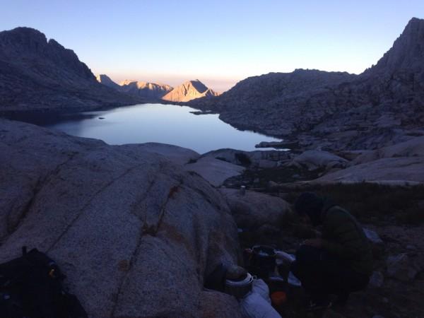 Sunrise over Glacier Lake... or the unnamed lake above Glacier Creek. ...