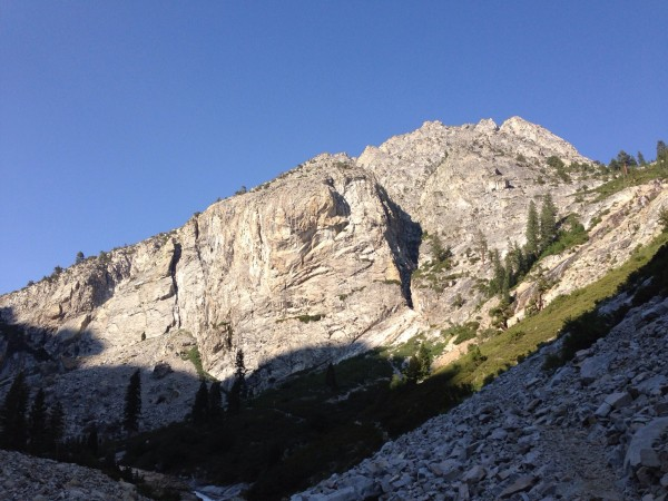 Large Wall above middle fork of the Kings.