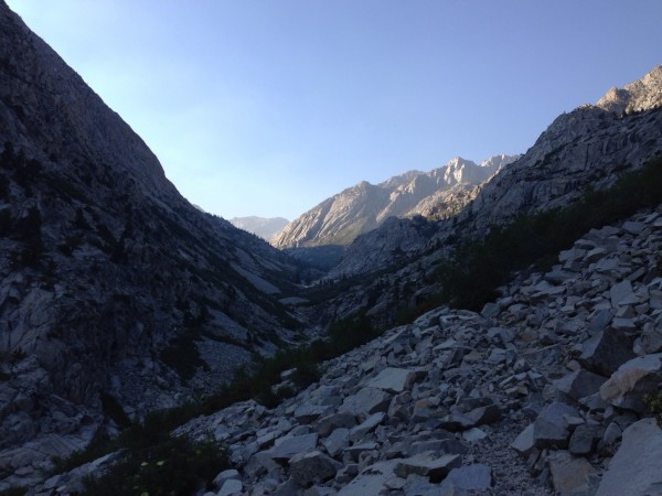 Looking down MIddle Fork of the Kings toward LeConte Canyon.