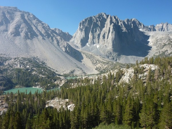 Temple Crag after coming full circle and exiting on the North Fork of ...