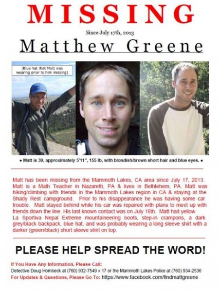 MISSING: Matthew Greene