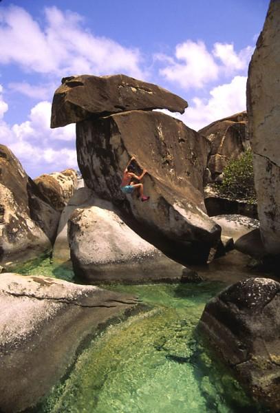 S.L.R. bouldering on G-R-A-N-I-T-E-! <br/> 1980s
