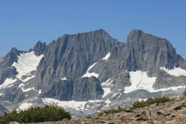 Ritter and Banner from the summit of Carson Peak, August 2008...shot w...