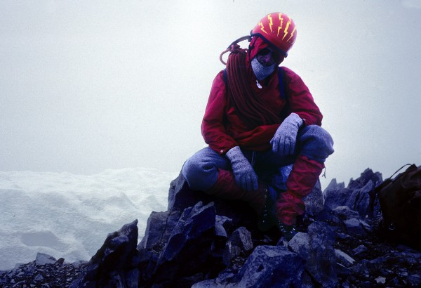 Summit of Mt. Dana after the first ascent of the North Rib, May 1982