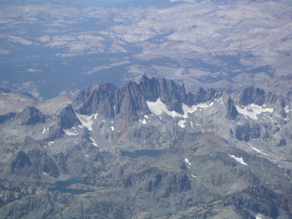The Minarets taken today from 16,500 feet on the way home