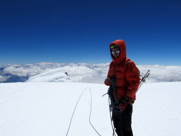 Vitaliy on the summit.