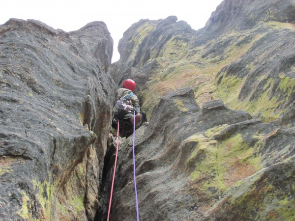 Second pitch of Rubyatt great wide crack in an absolutely beautiful se...