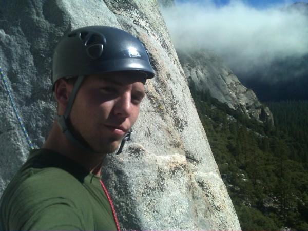 Matthew Moody self portrait on the Nose Route of El Capitan on 10-11-1...