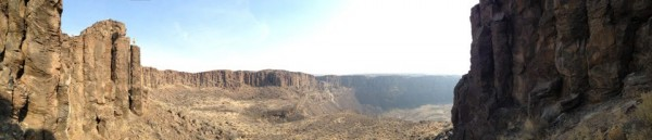 Frenchman Coulee (WA). I'm atop the pillar to the left.