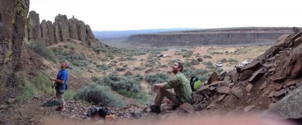 Frenchman Coulee (WA) - I'm belaying my little brother.