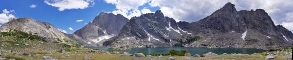 Temple Lake, East Temple and Temple Peaks