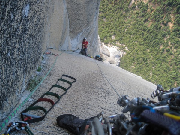 sweet ledge to belay from 16