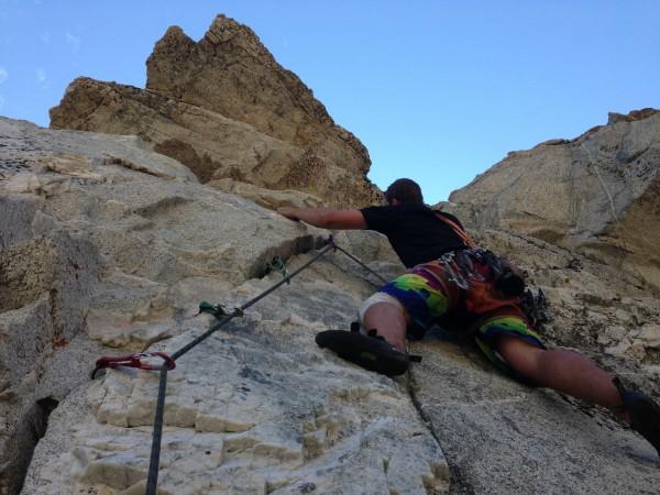 Trad climbing at Crystal Lake