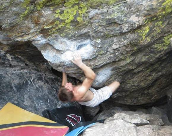 Tommy's Arete, v7, Lower Chaos Canyon <br/>