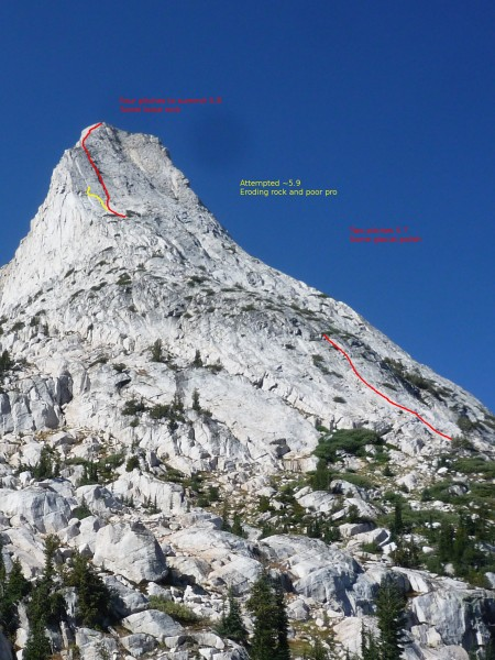 Watchtower Peak, Northeast ridge, 5.8, III, 6P
