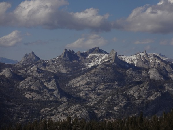 The Cathedral Range from Mount Clark.  From left to right: Eichorn and...