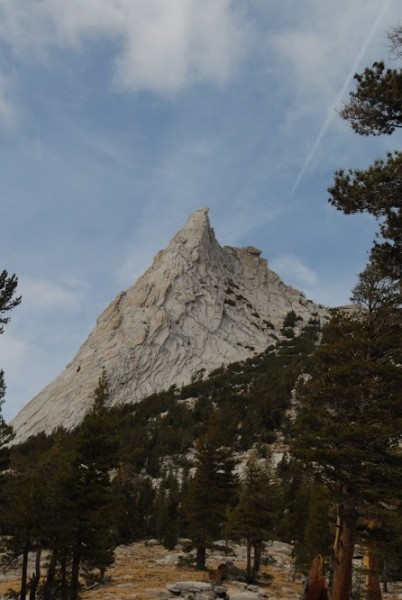 The southeast buttress of Cathedral Peak