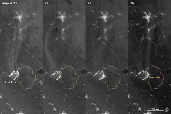Rim Fire from space