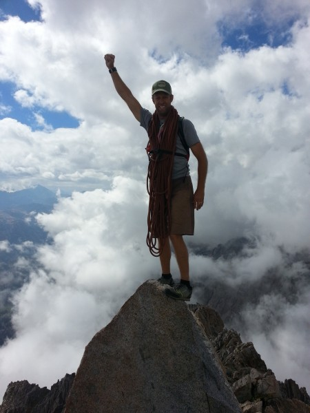 Clarke Brogger on summit of Mt. Emerson!