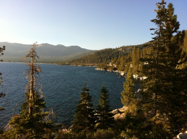 Looking north from memorial point east shore Lake Tahoe. <br/>