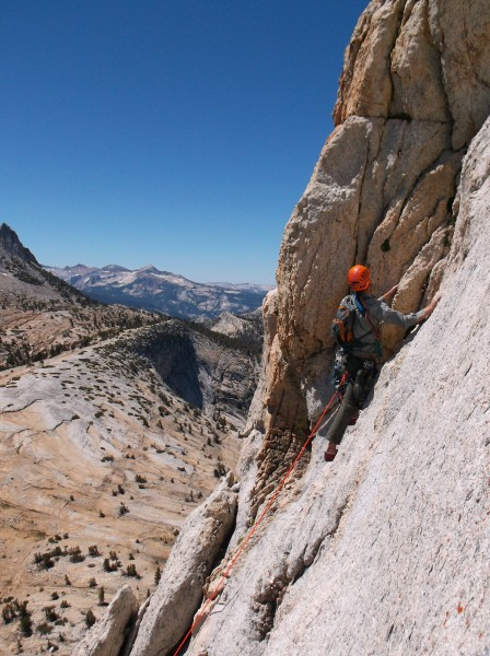 Patrick Henner on Cathedral Peak