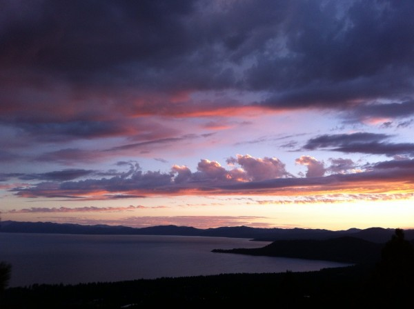 Tahoe sunset 8/31