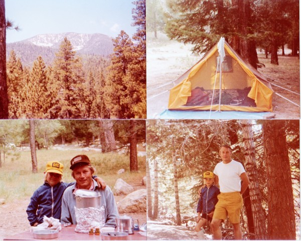 My dad and I in the San Bernardino Mountains, June, 1979