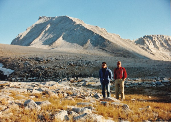 After climbing Mount Tyndall from Shepherd Pass, August, 1988