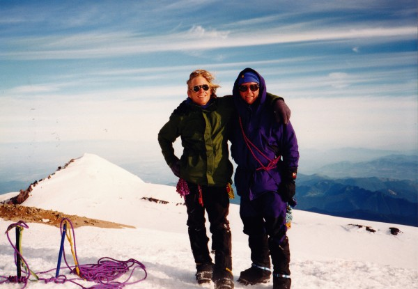 Dad and I on top of Rainier, July, 1996.