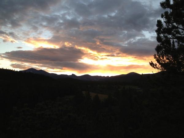 Sawtooth Peak and the Indian Peaks Range.