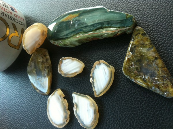 Agate and petrified peat bog