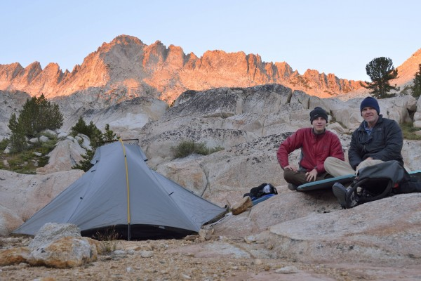 Camp Near Burro Pass with Sawtooth Ridge