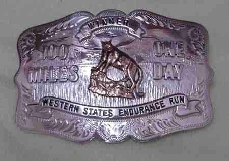 Winners Bucke.  Other buckles for various categories of finishers  <br/>